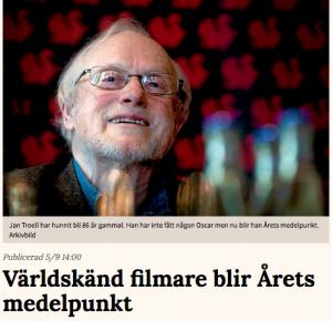 Jan Troell får priset Årets medelpunkt