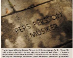 Peps Persson Walk of Fame Höör