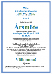 kallelse Höörs Försköningsförening årsmöte 2018